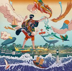 Ukiyo-e Tale: A Personal #Illustration Project by Nicolás Castell #digitalart #inspiration