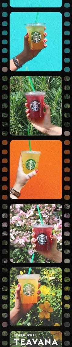 Blackberry Mojito, Mango Black Tea and Peach Green Tea. Set the scene for summer with Teavana Shaken Iced Teas!