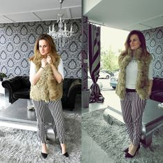 Fur+Stripes!!! (by Tu Personal Shopper By Marta Antolinez) http://lookbook.nu/look/4710465-Fur-Stripes