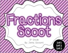 Get your students moving around the classroom and talking about math! Practice or review fractions in a fun way by using these cards to play Scoot or for a classroom Scavenger Hunt. These cards are aligned to the 3rd grade common core standards for fractions.