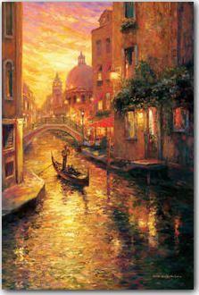 Gondola in Sunset, Venice