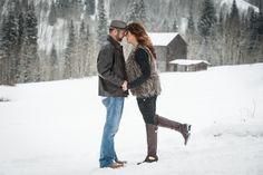 #love in #winter in #Aspen #Colorado #engagement #photo www.michelecardamonephotography.com