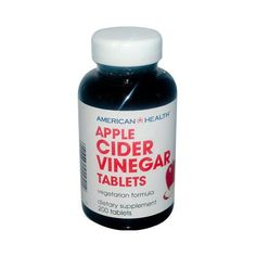 American Health Apple Cider Vinegar Description: Apple Cider Vinegar tablets deliver all the nutritional benefits of apple cider vinegar, and are provided in ta