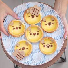 Pooh egg tarts by Sydney desserts , Australia (@bakedbyandres)