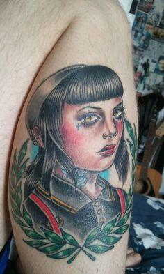 Skinhead Tattoos | yami-katana:My skinbyrd tattoo.My boyfriend's amazing tattoo by ...