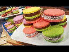 Alfajores de maicena de colores - Recetas – Cocineros Argentinos