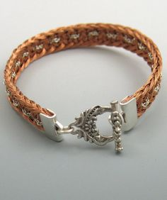 Kumihimo Woven Copper Wire Bracelet with by ArhyonelDesigns