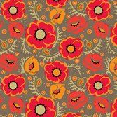 Poppy Passion, Cindy Lindgren, Modern Yardage