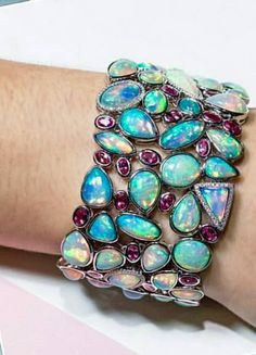Yael Designs 74 carat opal cuff with pink spinels and diamonds. 2016…