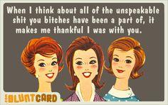 GIRLFRIENDS Funny Quotes, Humorous Sayings, Me Quotes, Humor Quotes, Random Quotes, Quotable Quotes, Funny Memes, Besties, Girlfriends