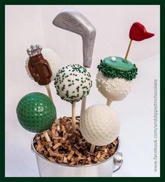 Test …and Dipped In Chocolate Golf Cake Pops, Golf Cakes, Sports Party Favors, Golf Party, Grilling Gifts, Summer Barbecue, Something Sweet, Cakepops, Cake Decorating