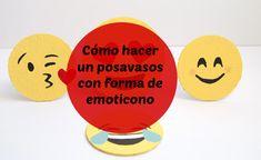 ¡Este #diy es muy gracioso! Haz tus propios posavasos con forma de emoticonos. ¿Qué te parecen?
