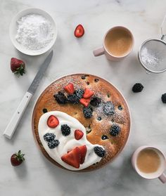 Could You Eat Pizza With Sort Two Diabetic Issues? Olive Oil Berry Cake A Cozy Kitchen Aldi Recipes, Easy Cake Recipes, Baking Recipes, Sorbet, Biscotti, Mousse, Dessert Crepes, Fruit Dessert, Bakken