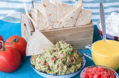 Guacamole by Greek chef Akis Petretzikis. The perfect healthy dip or snack that is extremely aromatic and packed with flavor and is so quick and easy to make! Dessert Recipes, Desserts, Avocado Toast, Guacamole, Cravings, Baking, Breakfast, Ethnic Recipes, Food