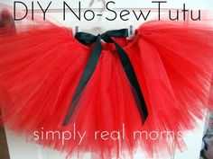 How to Make Adorable and Easy No Sew Tutu Skirt