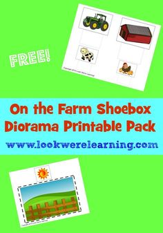 Farm Shoebox Diorama Printable Pack from www.lookwerelearning.com - So cute for a farm project!