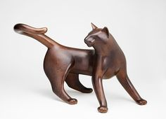 "CIRCLE CAT 2008 Bronze Edition of 9 Size: 19.25""H x 32""L x 19.5""W"