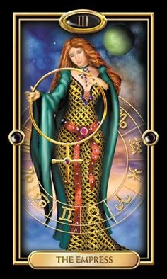 Gilded Tarot: The message of The Empress is that of creation and passion. You are in a position to nurture and give birth to a project. Tap into the energy of Mother Earth and celebrate her gifts. Recognize, honor, and celebrate your senses, the physical world and nature. Allow your feelings expression.