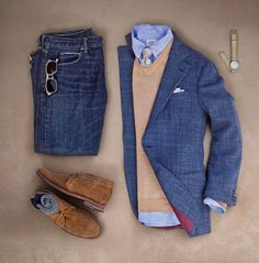 Smart casual outfit grid from ✨ Fashion Mode, Look Fashion, Daily Fashion, Mens Fashion, Fashion Hacks, Classic Fashion, Fashion Wear, Fashion Advice, Latest Fashion