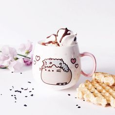"""27.8k Likes, 182 Comments - Pusheen (@pusheen) on Instagram: """"The only thing better than hot cocoa is hot cocoa from this cute pastel Pusheen mug! :…"""""""