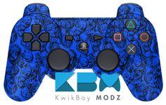 Blue Zombies DualShock 3 PS3 Controller - KwikBoy Modz  #zombies #ps3controller #ps3 #dualshock3 #zombiecontroller #zombieps3controller #gaming