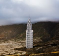 An Artist Digitally Inserted New York's Iconic Buildings Into Desolate Landscapes
