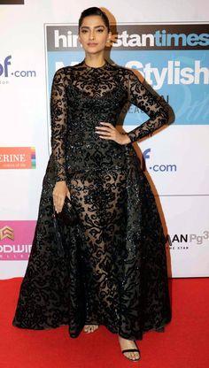 Sonam Kapoor at Hindustan Times Most Stylish Awards 2016. #Bollywood #Fashion #Style #Beauty #Hot #Sexy