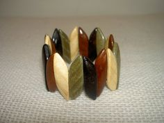 Multicolor wood  crown bracelet  Natural by TheWoodenTreasures, $10.00