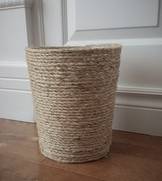 Sisal Trash Can | Wa