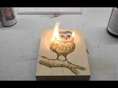 Artist uses Gun Powder to make drawings, then sets the powder on fire - in this video: drawing of an Owl. View video here: https://www.youtube.com/watch?v=P6fo0f5GCfE #Art #Drawing #Owl