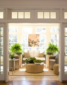 37 Amazing Sunroom Design Ideas - Sunrooms are as popular as ever which makes for a multitude of sunroom ideas. Not to be confused with a four season room, sunroom designs rely on the . Four Seasons Room, House Seasons, 4 Season Room, Sunroom Furniture, Conservatory Furniture Ideas, Cheap Conservatory, Conservatory Interiors, Rooms Furniture, Wicker Furniture