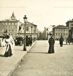 Foto storiche di Roma - Ponte Cavour1900