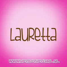 Lauretta (Voor meer inspiratie, en unieke geboortekaartjes kijk op www.heyboyheygirl.nl)