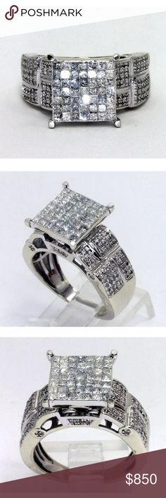 Gorgeous 1.5 carat 14k white gold diamond ring Gorgeous 1.5 carat 14k white gold diamond ring! High quality, G color/SI1 clarity diamonds! Retail over $2200! Jewelry Rings