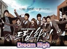 Dream High. One of the best dramas I've ever watched. Out of all the students, only one will become a super pop start.