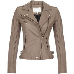 Iro Tara Leather Jacket ($759) ❤ liked on Polyvore featuring outerwear, jackets, coats, tops, leather jacket, dark brown, brown motorcycle jacket, zipper jacket, biker jacket and leather motorcycle jacket