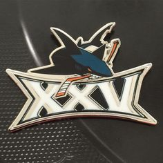 San Jose Sharks 25th Anniversary Pin.