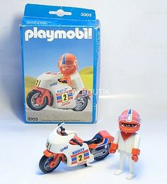 PLAYMOBIL Vintage ! 3303 MOTARD .http://www.playboutik.com/achat-playmobil-3303-motard-406692.html