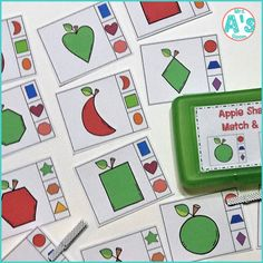 These adorable math activities are great for busy boxes, quiet time bins, centers, table activities, or morning tubs in any preschool or kindergarten class! They are all apple themed, and they are ready to print & easy to use! #preschool #kindergarten #mathideas #busyboxes #quiettimebins #applestheme Preschool Apple Activities, Preschool Apple Theme, Counting Activities, Preschool Themes, Autumn Activities, Toddler Activities, Counting For Kids, Fine Motor Skills Development, Busy Boxes