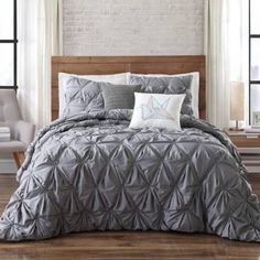 Product Image for Brooklyn Loom Jackson Pleat Comforter Set 2 out of