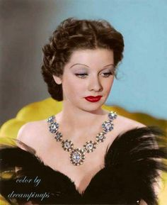 Lucille Ball, beautiful even in dark hair. Great color photo of her.
