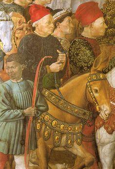 Procession of the Youngest King by Benozzo Gozzoli - Wikimedia Commons. Дворец Медичи-Риккарди (Флоренция) - Часовня волхвов. Беноццо Гоццоли. (1420-1497). Шествие самого молодого короля (деталь).