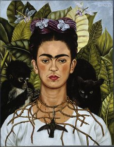 Frida Kahlo Self Portrait art painting for sale; Shop your favorite Frida Kahlo Self Portrait painting on canvas or frame at discount price. Diego Rivera, Frida E Diego, Frida Art, Frida Kahlo Artwork, Frida Kahlo Portraits, Art Populaire, Mexican Artists, Mexican Female Artist, Ouvrages D'art