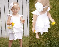 Adorable little t-shirt sundress!.
