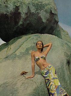 Emilio Pucci, Spring 1965, Vogue US, June - Photographer: Henry Clarke - Model: Veruschka