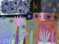 Greetings card  Garden Life 2 14  A print of one of door spacefruit, £2.50