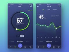 Decided to join the Smart Home playoff which started by @Anggit Yuniar Pradito  Have a lot of fun making this Smart home app concept. This app will help you controls the automation, utilities, ente...