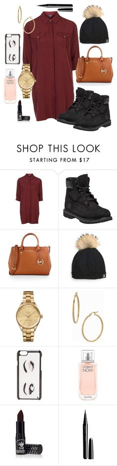 """""""Happy New Year!❤️"""" by thehotline ❤ liked on Polyvore featuring Topshop, Timberland, MICHAEL Michael Kors, Lacoste, Bony Levy, Kate Spade, Calvin Klein, Manic Panic, Marc Jacobs and women's clothing"""