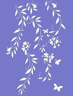 Blossom Stencils Oversize Flower Silhouettes Stencil. Hennydonovanmotif