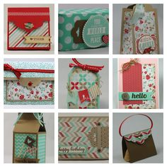 Stampin Up Tag Topper Punch projects by Michelle Last (no tutorial)